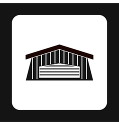 Barn icon in simple style vector