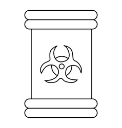 Biohazard symbol sign icon outline style vector