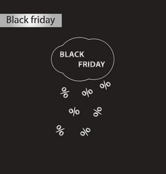 Black and white style icon friday vector