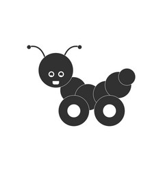 Black icon on white background children toy vector