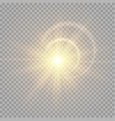 Bright golden flash vector