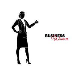 businesswoman woman in business suit vector image