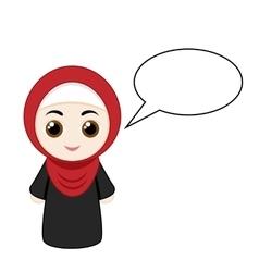 Cartoon girl with hijab vector