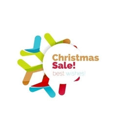 Christmas and New Year promotion banner design vector image
