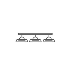 Class lamp isolated icon in linear style vector