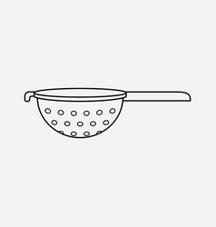 colander icon line element of vector image