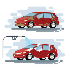 Concept for car washing service car wash vector