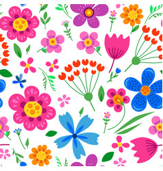 Cute pattern in small flower vector