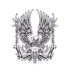 death eagle vector image
