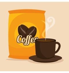 Delicious coffee break design vector