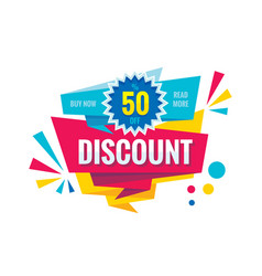 Discount up to 50 - creative banner vector