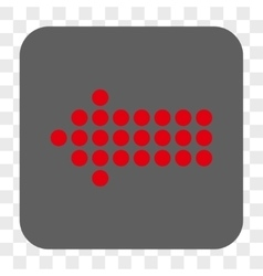 Dotted arrow left rounded square button vector