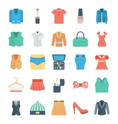 Fashion and Clothes Icons 4 vector image