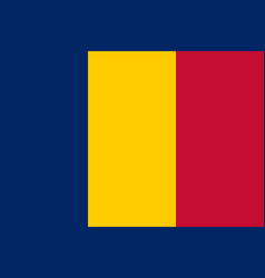 flag of chad flag with official colors and vector image