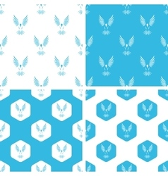 Flying bird patterns set vector