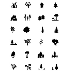 Forest Solid Icons 1 vector image