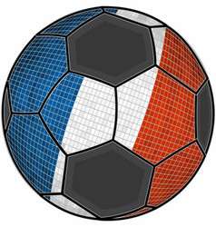 france flag with soccer ball background vector image