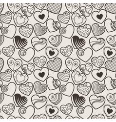 Fun seamless love heart background vector
