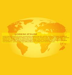 globe design vector image