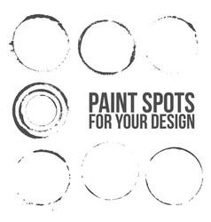 grunge circles set vector image