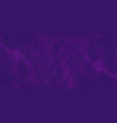 halftone music wave on purple background dotted vector image