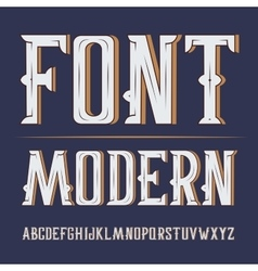 Handy crafted modern label font on dark vector