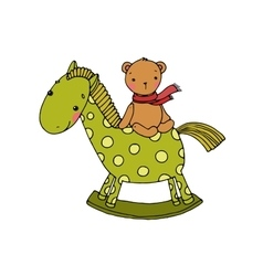 horse and bear kids toys vector image