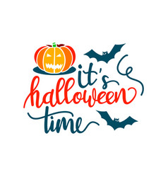 its a happy halloween party time with scary vector image
