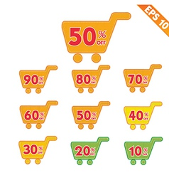 Label stitch template sale shopping cart tag - vector image