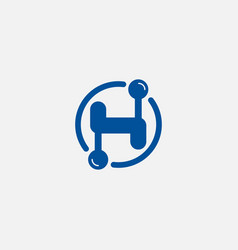 letter h - initial or logo design element or icon vector image