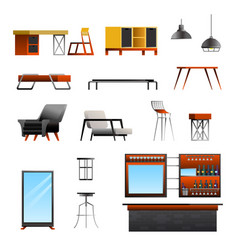 loft cafe constructor set vector image
