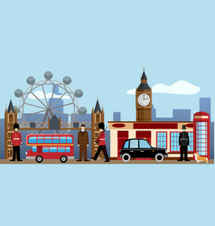 London and great britain set traditions and vector