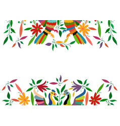 Mexican traditional textile embroidery style from vector