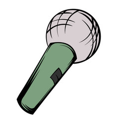 microphone icon cartoon vector image