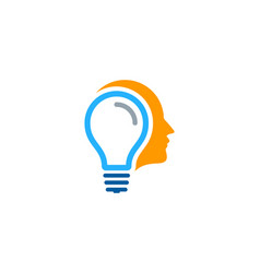 mind idea logo icon design vector image