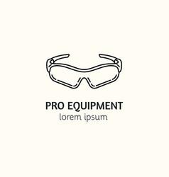 modern linear style sport equipment logotype vector image