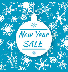 new year sale special offer tag shop market vector image