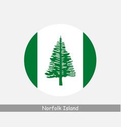Norfolk island round circle flag vector