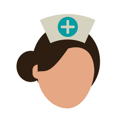 nurse faceless avatar vector image