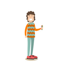 Painter artist in flat style vector