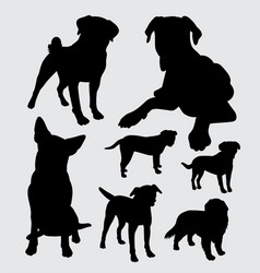 pet dog animal silhouette vector image