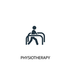 physiotherapy icon simple element vector image