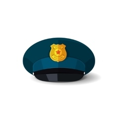 Police hat officer cop cap vector
