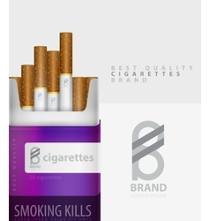 Premium cigarettes pack ad template vector
