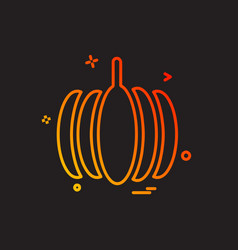 pumpkin icon design vector image