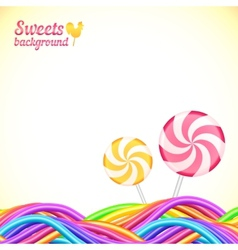 Round candy rainbow colors sweets background vector image