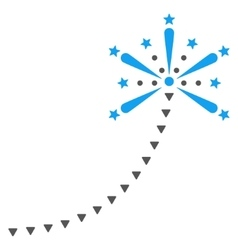 Salute Fireworks Trace Flat Symbol vector