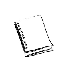 School notebook draw vector image