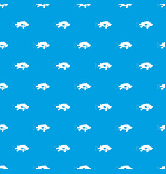 Sea bass fish pattern seamless blue vector
