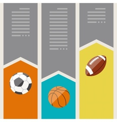 Sports infographics optional banners vector